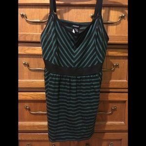 Torrid Green and black striped tank top